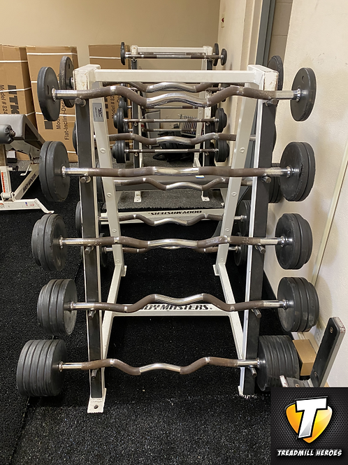 Fixed Barbell Set with Rack - Curl Bars