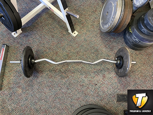 Standard Curl Bar with Collars and 55lbs