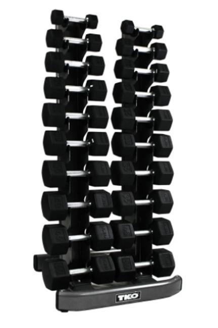TKO Strength 10 Pair Vertical Dumbbell Rack