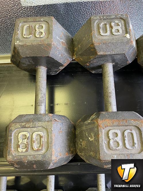 80lb Dumbbell Set