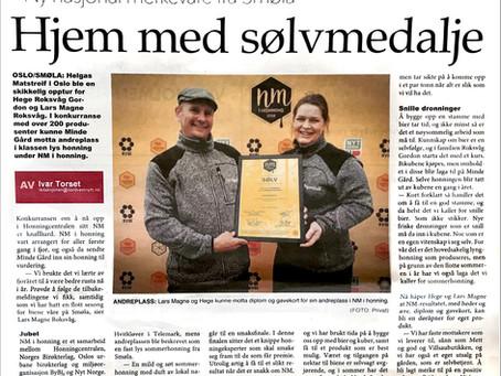 Sølv i NM-Honning 2018