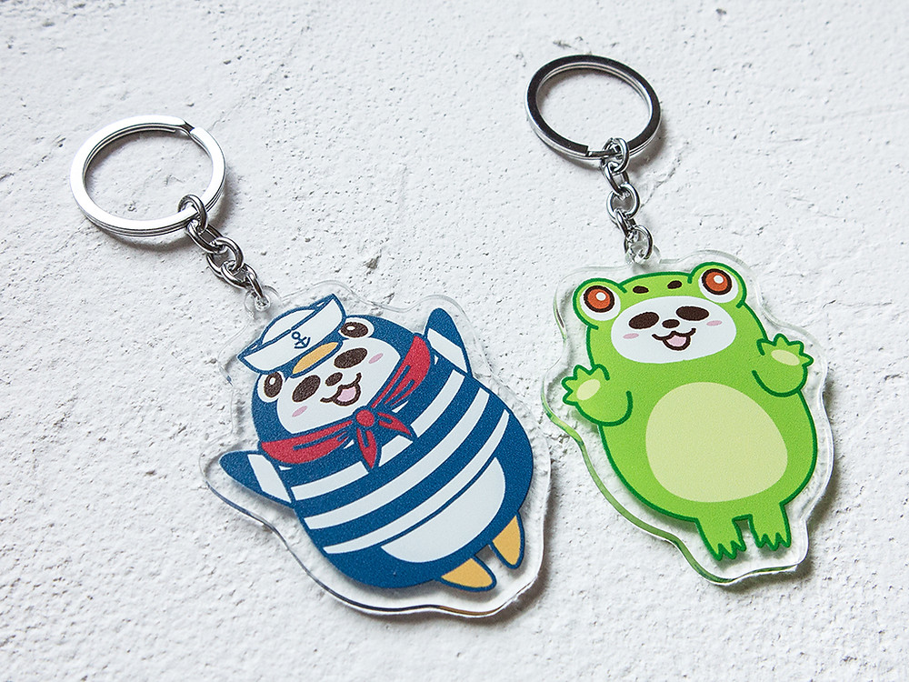Pandahaluha Acrylic Keychain
