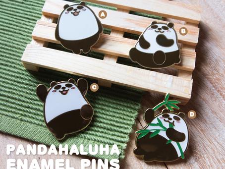 Pandahaluha 熊貓金屬襟章等你來領養!