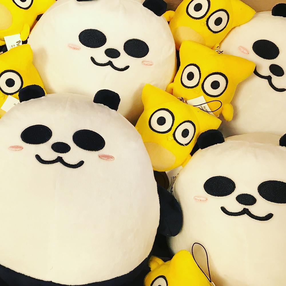 Pandahaluha Panda & Owl Plush