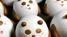 熊貓搪膠玩具