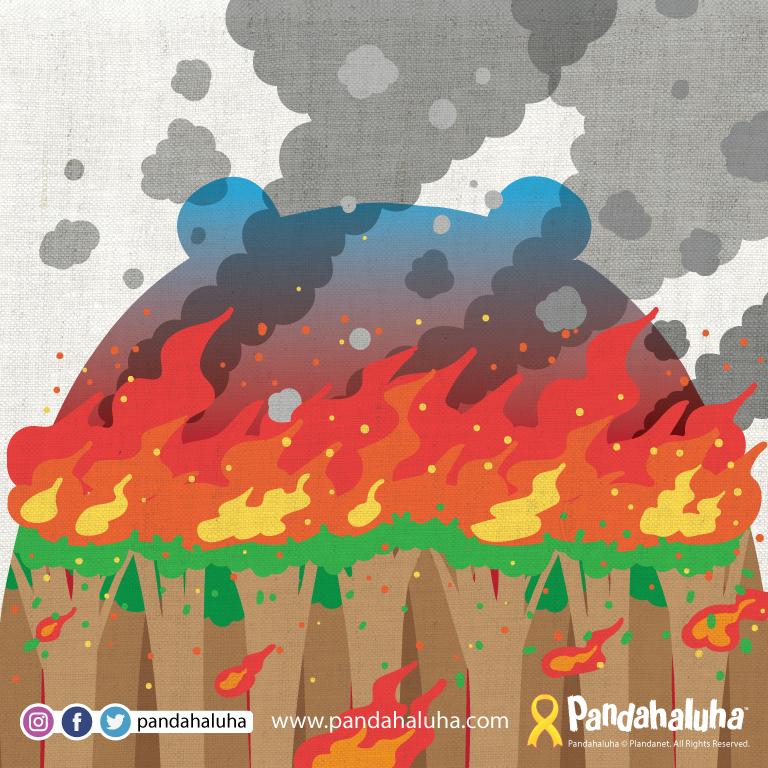 Pandahaluha - 森林大火