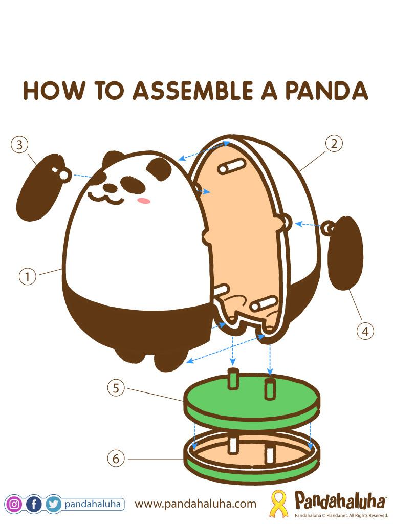 Pandahaluha - How to Assemble a Panda