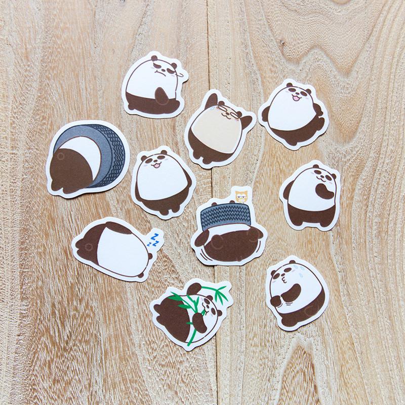 Pandahaluha - 熊貓和紙貼紙套裝