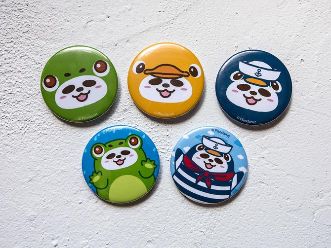 Pandahaluha Button Badges