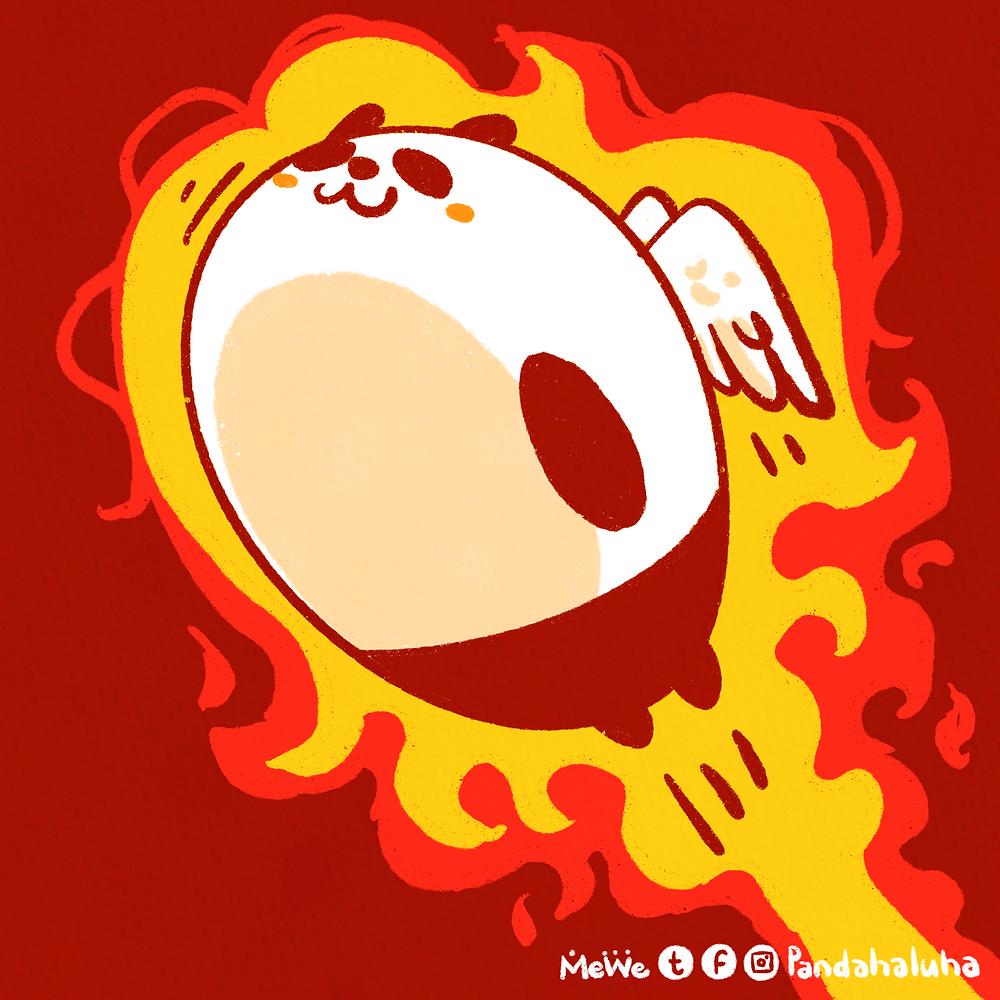 Pandahaluha - 熱到飛起!