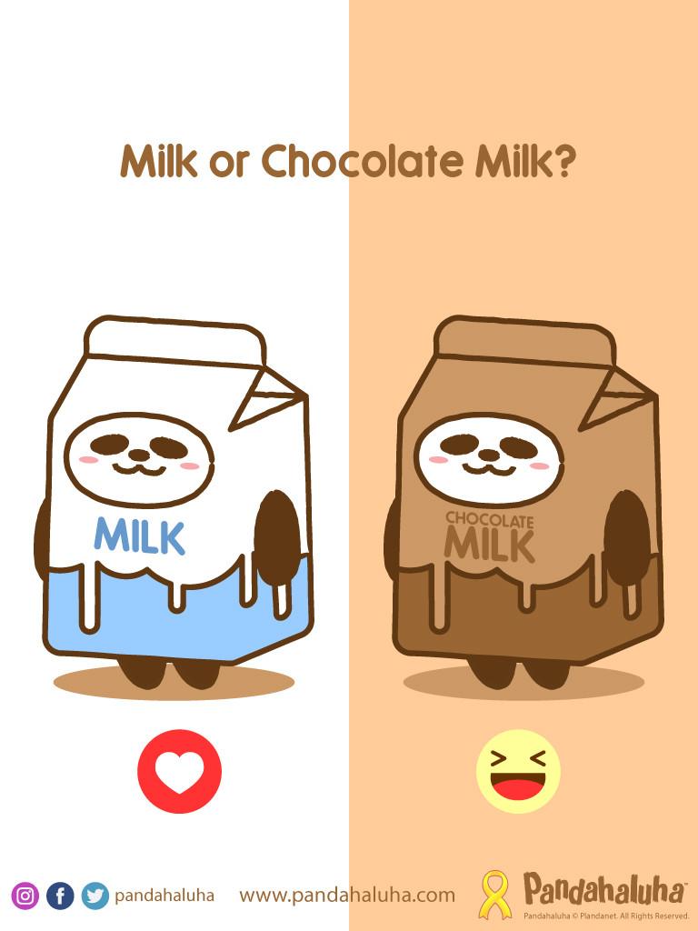 Pandahaluha - Milk or Chocolate Milk?