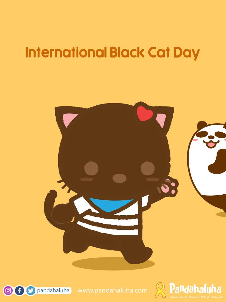 Pandahaluha - International Black Cat Day