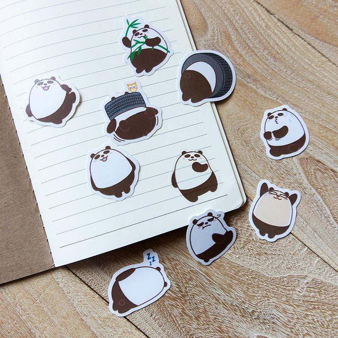 熊貓和紙貼紙套裝