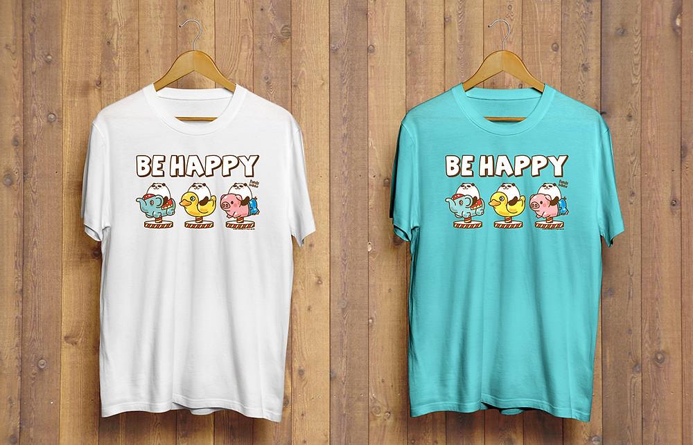 Pandahaluha Tee - Be Happy (Unisex)