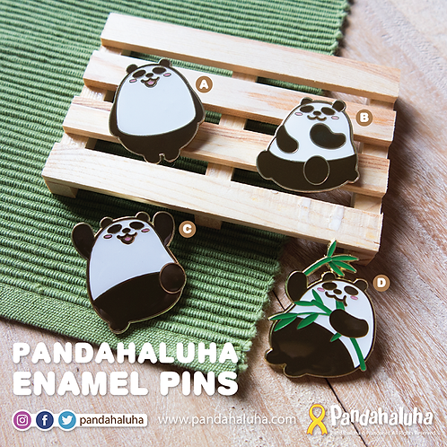 Panda Enamel Pins