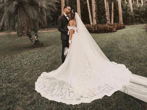 Após comemorar o título , Thiago Maia celebra casamento com a cantora Isadora Pompeo