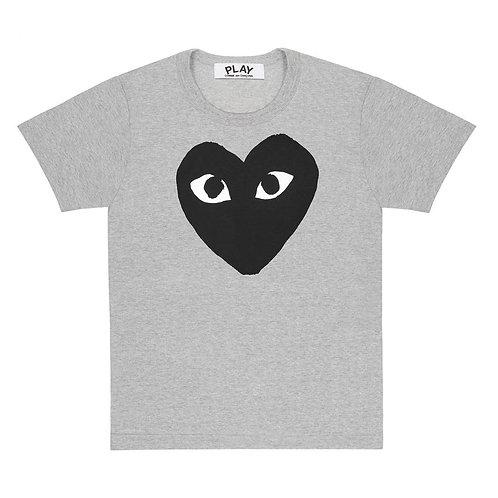 Grey PLAY Comme des Garçons T-Shirt