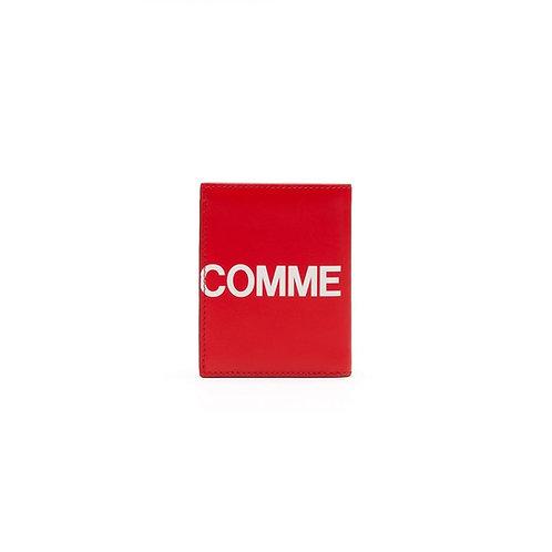 CDG Huge Logo Wallet - Red