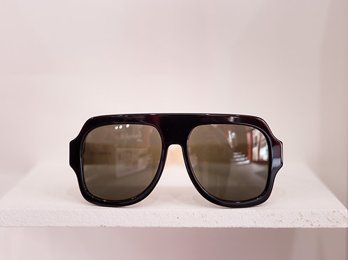 Chunky Acetate Aviator Sunglasses