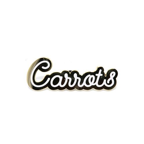 Carrots Cursive Pin