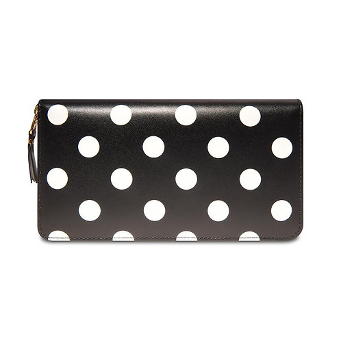 CDG Wallet Polka Dot Black