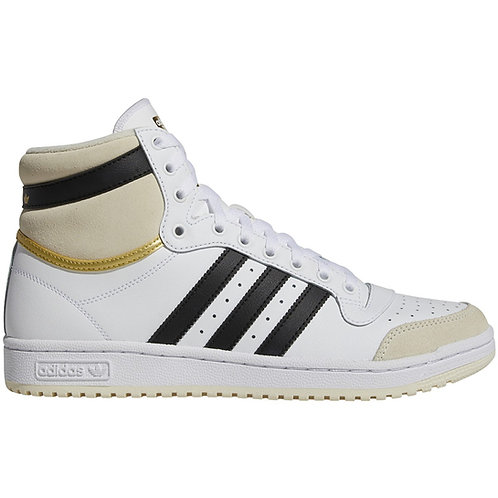 Adidas Top Ten Hi   White, Cream, Gold & Black