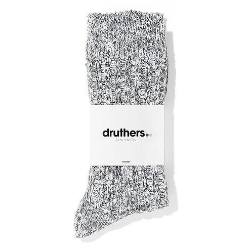 Druthers Organic Cotton Ribbled Slub Crew Socks