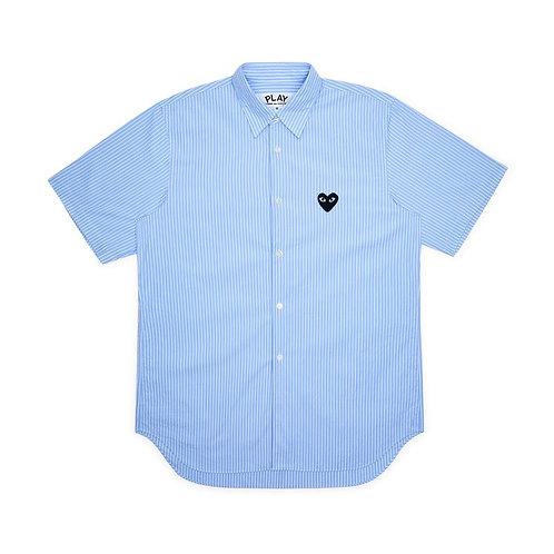 PLAY Comme des Garçons Striped Short Sleeve Shirt