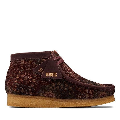 Clarks Originals Wallabee Boot Burgundy Velvet