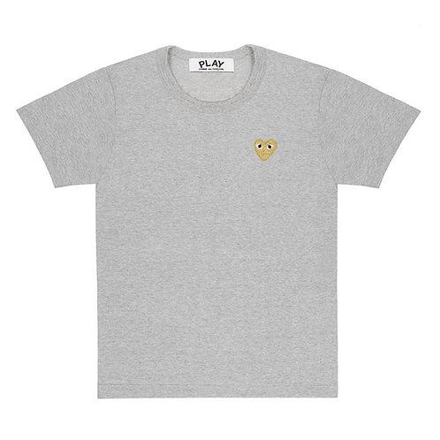 Play Comme des Garçons Gold Heart T-Shirt (Top Grey)