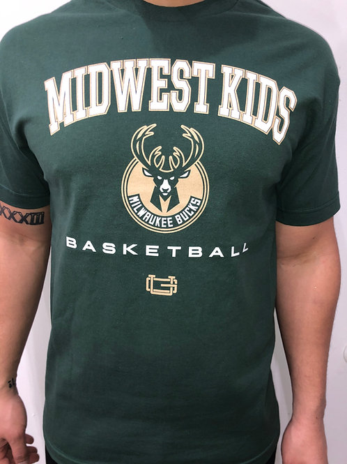 Midwest Kids x Ultra Game Milwaukee Bucks Tee