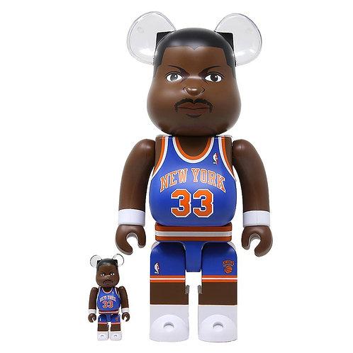 BE@RBRICK NBA NY Knicks Patrick Ewing 100% & 400% 2PK
