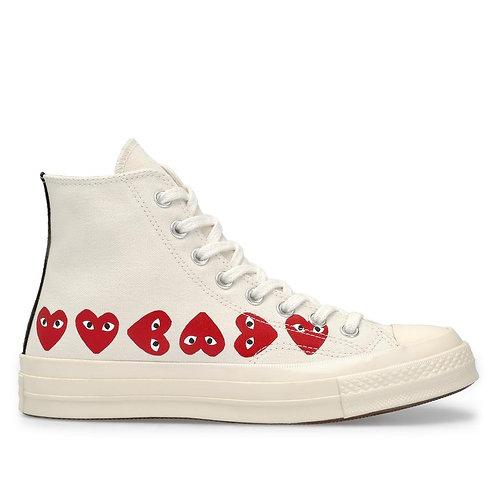 PLAY Converse Multi Heart Chuck Taylor All Star '70 High Top
