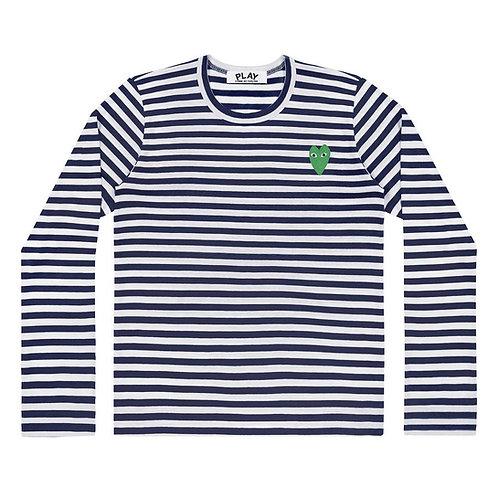 Green Play Comme des Garçons T-Shirt (Stripes)
