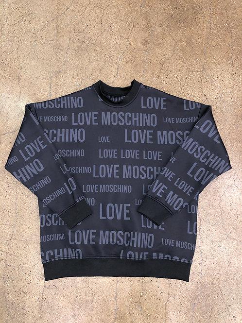 Love Moschino Logo Crewneck