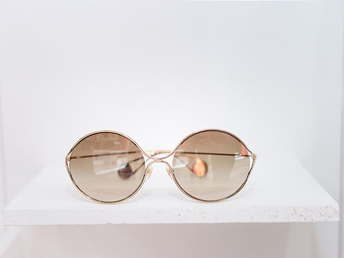 Women's Metal Frame Pearl Sunglasses