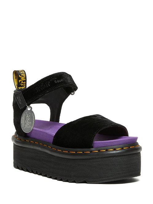 Dr. Martens Strap X-Girl Velvet Platform Sandals