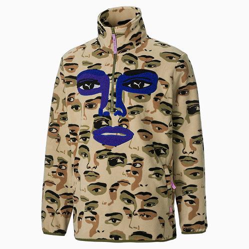 PUMA x KIDSUPER STUDIOS Men's Fleece Half- Zip AOP Sweatshirt