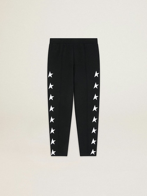 Golde Goose Star Collection Tapered Sweatpant (Black)