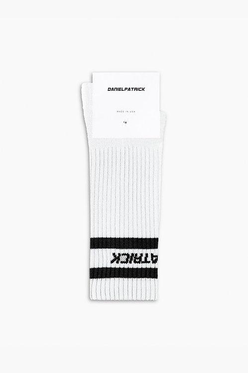 Daniel Patrick Logo Stripe B-Ball Sock