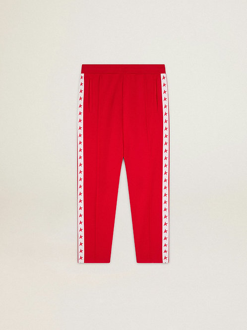 Golden Goose Star Collection Tapered Trackpant (Red)