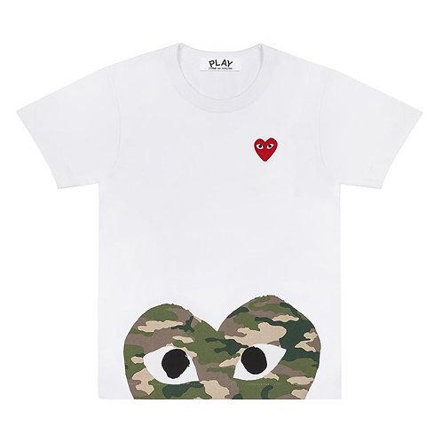 PLAY Comme des Garçons Camouflage Edge Heart T-Shirt