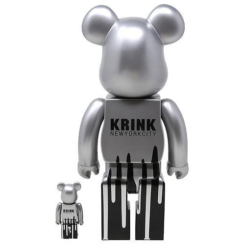 BE@RBRICK Krink 100% & 400% 2PK (Silver)