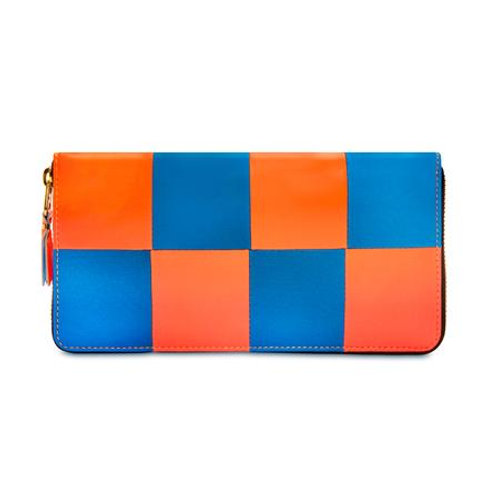 CDG Wallet Fluo Squares Orange/Blue