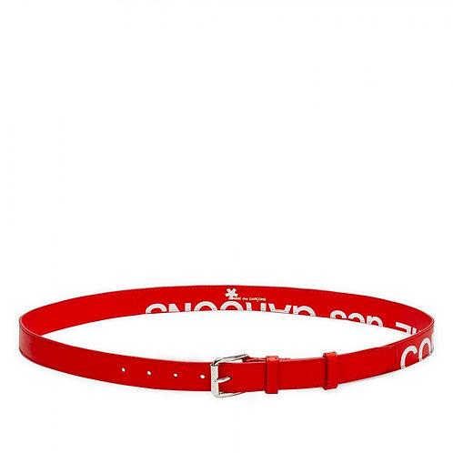 CDG Wallet Huge Logo Belt - Red