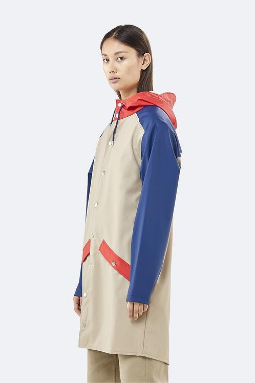 RAINS Color Block Long Jacket