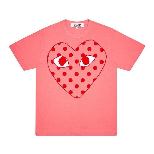 PLAY Comme des Garçons Polka Dot Heart T-Shirt