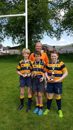 The P6_7 winners and their Coach Mark Brand who received a Special Recognition Award for his commit