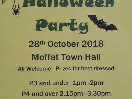 Annual Halloween Party's 28th Oct 2018 (£3 per child)
