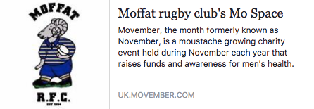 Moffat Rams Senior players do Movember